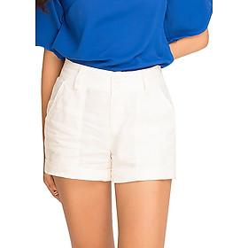 Quần Shorts Ngắn Vải Lanh Linen Hity PAN011 - Trắng Blanc
