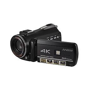 Máy Quay Phim Andoer AC3 4K Kết Nối Wifi Màn Hình Cảm Ứng Hỗ Trợ Microphone Rời  (24MP) (3.1 Inch) (Zoom 30X)