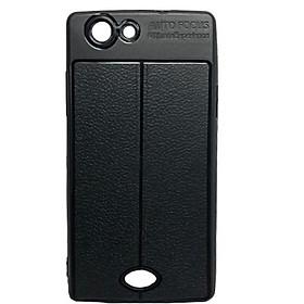 Ốp Lưng cao cấp Auto Focus giả da cho điện thoại OPPO: A3, A31, A35, A57, A71, A83  (Màu Đen)