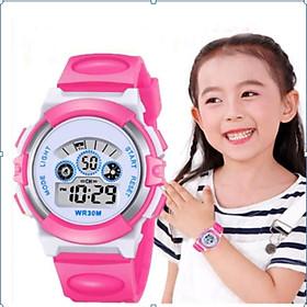Đồng hồ trẻ em cho bé  chống nước, có đèn led 7 màu.