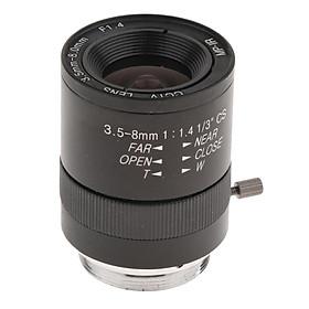 3.5-8mm Varifocal Manual IRIS Zoom CS Mount Lens for Security  Cameras
