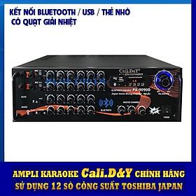 Amply Bluetooth Ampli Karaoke Gia đình 12 sò lớn Cali.D&Y PA-9090D - Hàng chính hãng