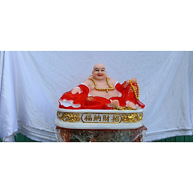 Tượng Phật Di Lặc Lớn Màu Đỏ Cao 31cm