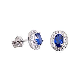 Hình đại diện sản phẩm Bông tai bạc PNJSilver đính đá màu xanh 12120.400-BO