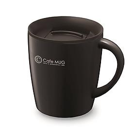 Cốc inox giữ nhiệt Cafe Mug 330ml có gioăng silicon  & nắp trượt chống tràn - Nội địa Nhật Bản