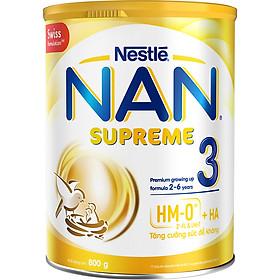 Sản phẩm dinh dưỡng công thức Nestlé NAN SUPREME 3 lon 800g (CÔNG THỨC BỔ SUNG 2HM-O)