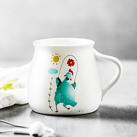 Jiayi ceramic cup office coffee cup flower tea cup milk cup cute animal mug cup chicken [more than one thousand accept custom]