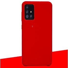Ốp Lưng Silicone Dẻo Lót Nhung Nỉ Chống Sốc chống bẩn hạn chế bám vân tay Dành Cho Samsung Galaxy A31, A51, A71, M51