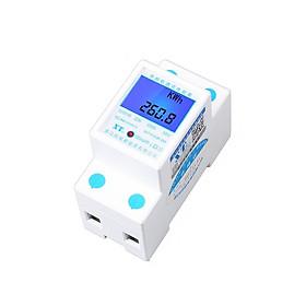 Đồng hồ đo lượng điện, công suất, điện áp, dòng điện gia dụng không đèn D00-026