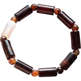 Vòng Tay Đá Mã Não Đen Đốt Trúc Ngọc Quý Gemstones MD24
