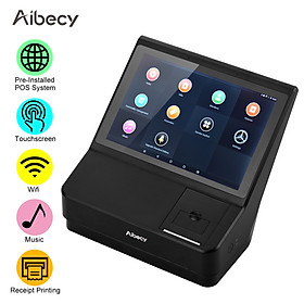 Aibecy 10.1 Inch Touchscreen POS Cash Register with Point of Sale System 58mm Receipt Printer Support WiFi BT Connection