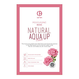 Mặt nạ dưỡng ẩm ONA Natural Aqua Up-Rose Mask - 23g
