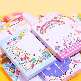 Giấy note 100 tờ cầm tay nhỏ gọn tiện lợi đủ họa tiết cute cùng nhiều màu sắc  đáng yêu cho mọi lứa tuổi -H030