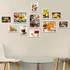 Bộ khung ảnh Treo Tường Nước Ép, Cafe Trang Trí Quán Đẹp Hiện Đại Tặng Kèm bộ ảnh như hình mẫu, đinh treo tranh và sơ đồ treo PGC273