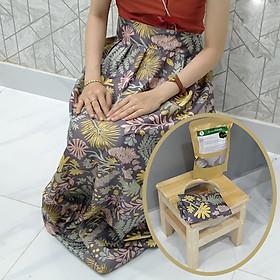 Ghế xông hơi vùng kín bà đẻ gỗ thông cao cấp cùng Váy xông  giữ nhiệt và Thảo dược xông hơi vùng kín