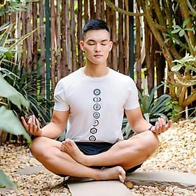 Áo tập Yoga nam họa tiết 7 luân xa