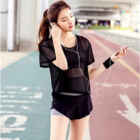 Sét Bộ đồ tập Gym, Yoga, Aerobic nữ 3 trong 1 cao cấp Style Hàn Quốc - Kip03