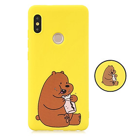 For Redmi NOTE 5 pro Soft TPU Full Cover Phone Case Protector Back Cover Phone Case with Matched Pattern Adjustable Bracket