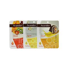 Set 10 Mặt nạ giấy dưỡng trắng da cao cấp (3 collagen , 3 ốc sên, 4 trái cây)