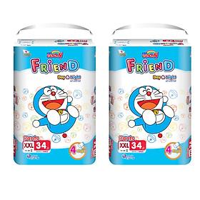 Combo 2 gói Tã quần Goo.n Friend XXL34 thiết kế mới - tặng đồ chơi Toys house-0