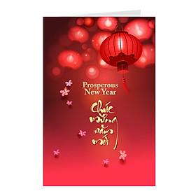 Combo 2c Thiệp chúc mừng năm mới đẹp, thiệp chúc Tết Grey (331)