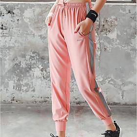 Quần dài Jogger thể thao nữ tập gym yoga hồng