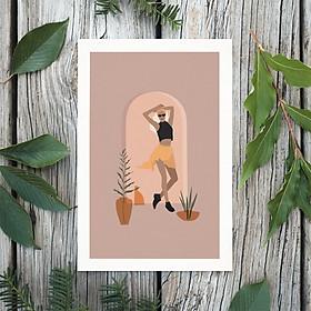 Tranh Poster Phong cách tối giản, Bohemian, Lady, Lifestyle, Fashion, Minimalism, Pastel, SOYN PTK004
