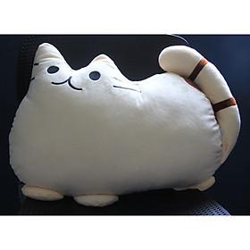 Thú Nhồi Bông/ Gấu Bông Mèo Pusheen Siêu Mềm 50 cm (Tặng kèm móc khóa da bò thật màu ngẫu nhiên) BA00159