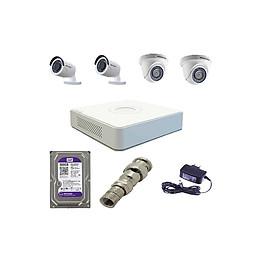 Trọn Bộ 4 Camera Hikvision 1080P  (Nhà Riêng, Văn Phòng) Hàng Chính Hãng