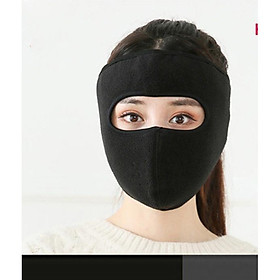 Khẩu trang ninja che kín mặt kín tai vải nỉ dán gáy chống nắng chống gió lạnh mùa đông - khau trang