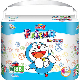 Combo 2 bịch Tã quần Goon Friend Doremon mới gói siêu đại M68 (7kg ~ 12kg)-1