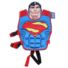 Phao bơi trẻ em, áo phao bơi SUPERMAN (Bé từ 2 - 10 tuổi), chất liệu tiêu chuẩn EU - POKI