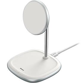 Đế giữ điện thoại tích hợp sạc nhanh không dây Baseus Swan Magnetic Desktop Bracket Wireless Charger cho iPhone 12 series (15W, Magsafe Wireless charge) - Hàng chính hãng
