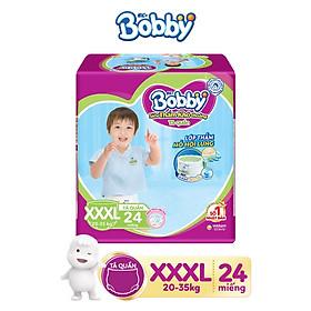 Tã quần Bobby Siêu thoáng XXXL24 tặng kèm 6 miếng tã