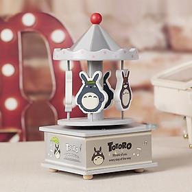 Hộp nhạc Gỗ Totoro Xám