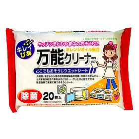 Set 20 giấy ướt vệ sinh bếp, lò vi sóng nội địa Nhật Bản
