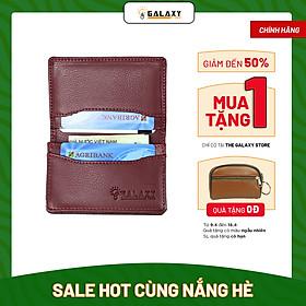 Ví Bóp Nam Nữ Mini Nhỏ Gọn Chuyên Để Thẻ Name Card Galaxy Store GVMB09 (10x7.2 cm) - Hàng Chính Hãng