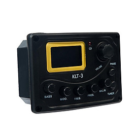 Acoustic Guitar Preamp EQ LCD Tuner Equalizer System 4 Band