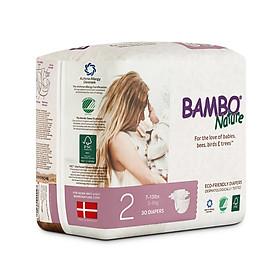Thùng Tã Dán Em Bé Hữu Cơ Bambo Nature - gốc Đan Mạch - 3-6kg - S30 - 6 gói-2
