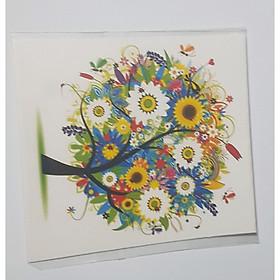 Thiệp in hình cây phong cách làm card quà cám ơn ,chúc mừng sinh nhật và giử tặng người thân yêu.