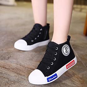 Giày Trẻ Em Cho Bé Trai Bé Gái Cổ Lửng Vải Mềm Êm Chân