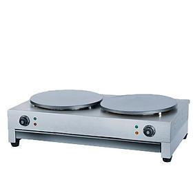 Máy làm bánh crepe loại 2 bếp dùng điện