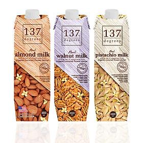 Sữa Hạt Nguyên Chất 137 Degree - Combo 3 Hộp 1L Sữa Hạt Óc Chó, Sữa Hạt Hạnh Nhân, Sữa Hạt Dẻ Cười