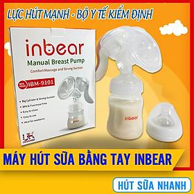 Máy Hút Sữa Bằng Tay Inbear (IBM-9101), Lực Hút Mạnh, Tay Cầm Chắc Chắn, Phễu Silicon Mềm Mại, Hút Sữa Nhanh, Kích Sữa Về Đều