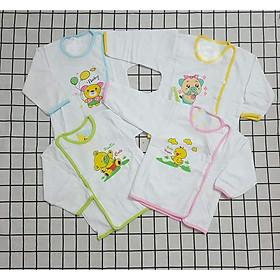 Set 10 Áo Sơ Sinh Cotton Mỏng Cho Bé