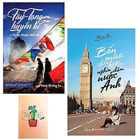 Combo Bốn Mùa Chân Bước, Nghìn Dặm Nước Anh và Tây Tạng Huyền Bí Và Nghệ Thuật Sinh Tử ( Tặng Kèm Sổ Tay )