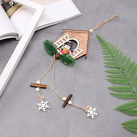 Gobestart  House shaped christmas tree hanging pendant wooden small hanging ornamentYF