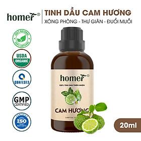 Tinh dầu thiên nhiên Cam Hương Homer - Dung tích 20ml / 100ml - Đạt chuẩn kiểm định cao cấp - An toàn cho sức khỏe - Đa công dụng