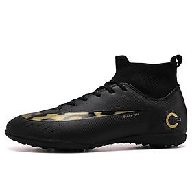 Giày đá banh bóng đá sân cỏ nhân tạo cao cấp mầu đen SV12BLACK