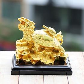 Tượng Long Quy (Rùa đầu Rồng) mạ vàng cao cấp